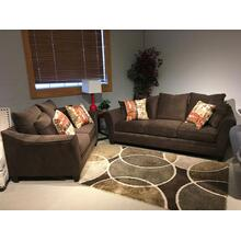 Abbington-chocolate Loveseat 40D2