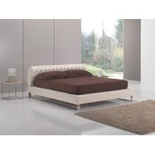 Estro Salotti Nicky Modern White Leather Bed