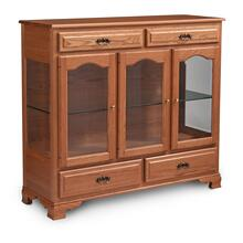 Classic 3-Door Dining Cabinet, 3 Doors with Wood Doors and Ends