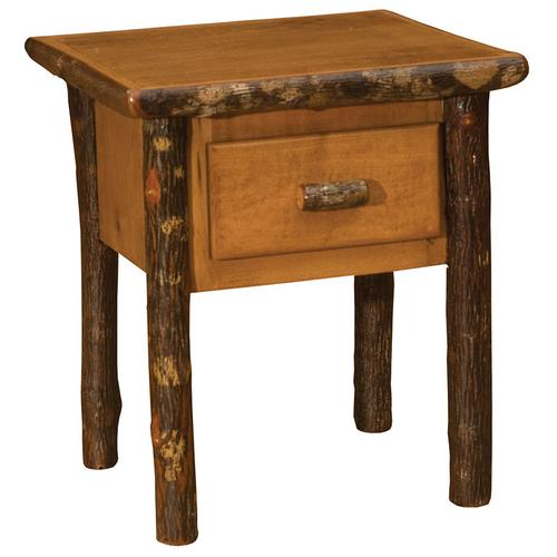 One Drawer End Table - Natural Hickory