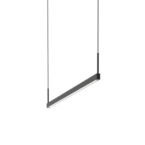 Sonneman - A Way of Light - Thin-Line LED Pendant [Size=3' One-Sided, Color/Finish=Satin Black]