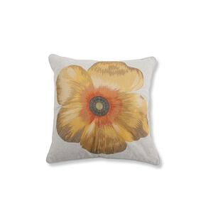 Poppy Feather Toss Cushion
