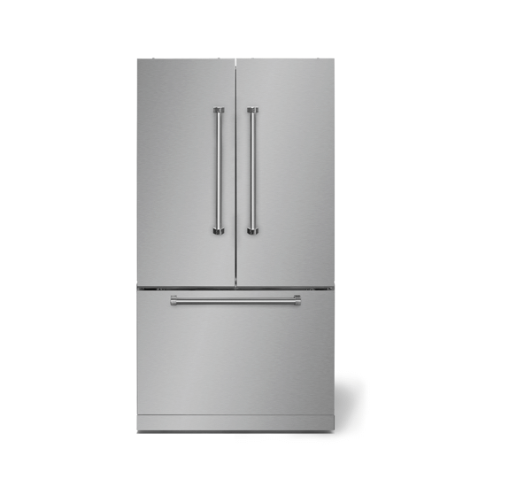 """AGAAga Professional 36"""" French Door Refrigerator, Stainless Steel"""