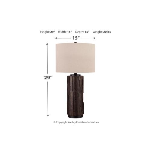 Black Poly Table Lamp