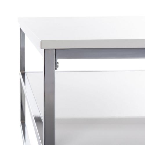 Safavieh - Aliza 2 Tier Square Coffee Table - White