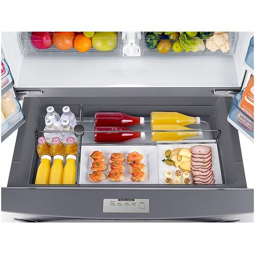22 cu. ft. Food Showcase Counter Depth 4-Door French Door Refrigerator in Stainless Steel