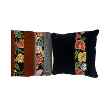 India Old Velvet ChainStch. Pillow