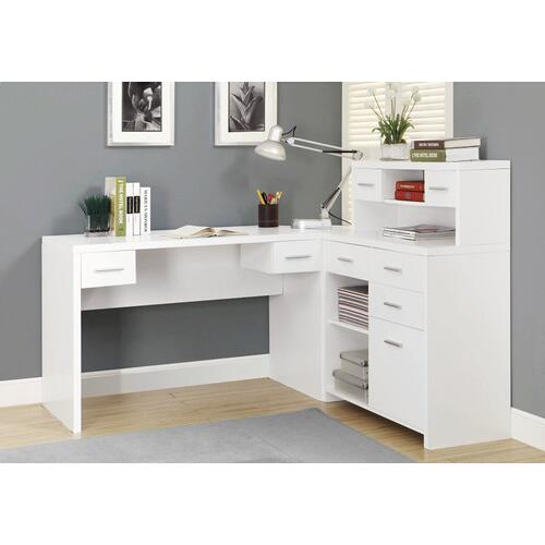 Gallery - COMPUTER DESK - WHITE LEFT OR RIGHT FACING CORNER