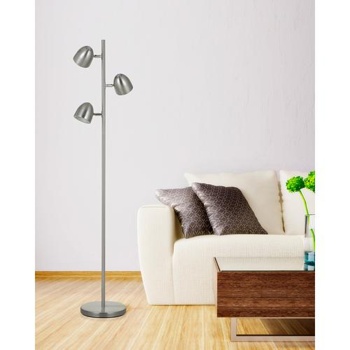 LED 6W X 3 Metal Tree Floor Lamp With Touch Sensor Dimmer Control On Each Light