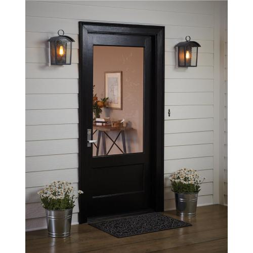 Hodges Small Outdoor Wall Lantern Ash Black