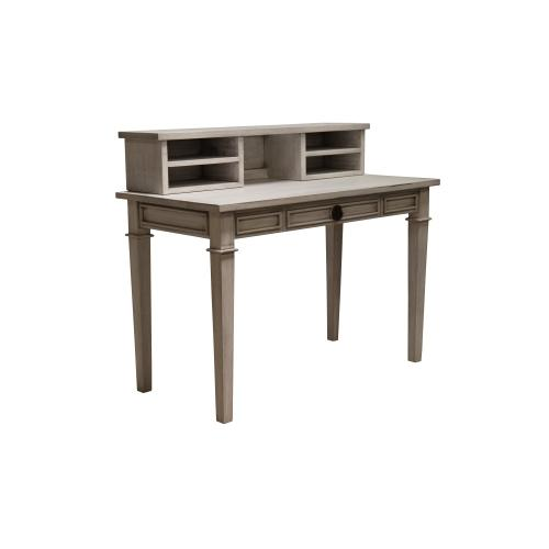 Capris Furniture - Desk, Available in Distressed White or Distressed Grey Finish.