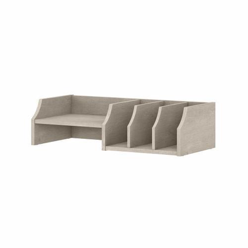 Bush Furniture - Desktop Organizer with Shelves, Washed Gray