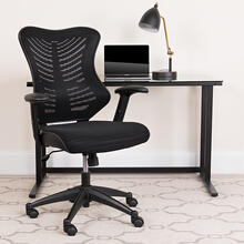 See Details - High Back Designer Black Mesh Executive Swivel Ergonomic Office Chair with Adjustable Arms