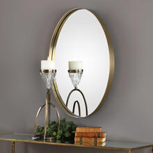 Pursley Brass Oval Mirror