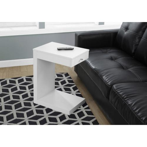 Gallery - ACCENT TABLE - WHITE WITH A DRAWER