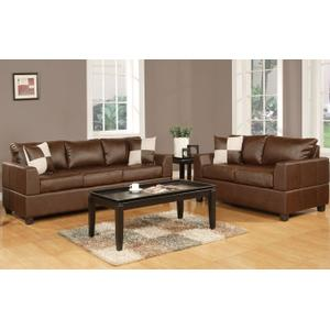 Gallery - 2-Pcs Sofa Set Bonded leather Match/Red