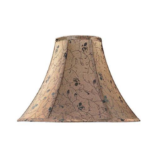 "Brown Jacquard Bell Shade - 7""tx18""bx12""sl"