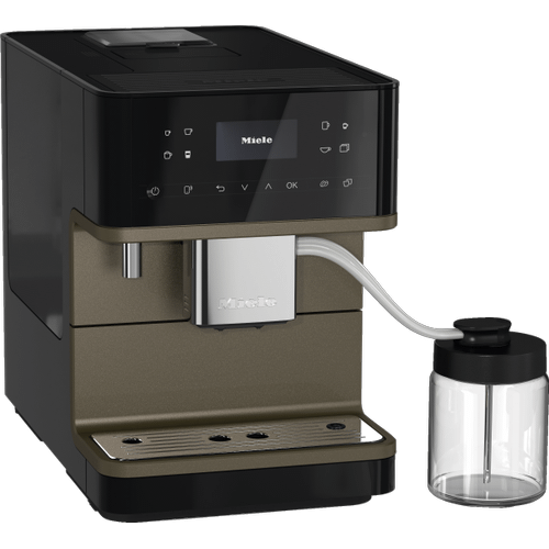 Miele - CM 6360 MilkPerfection - Countertop coffee machine With WiFi Conn@ct, high-quality milk container, and many specialty coffees.