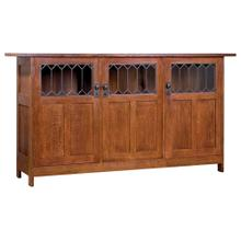 No Drawers Three Door Display Buffet