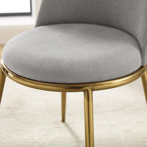 Metal Base Fabric Accent Chair