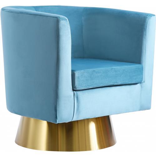 "Bellagio Velvet Swivel Accent Chair - 30"" W x 30"" D x 31"" H"