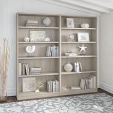 Universal Bookcases 5 Shelf Bookcase Set of 2