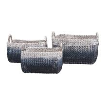 Cascade Woven Water Hyacinth Baskets - Set of 3