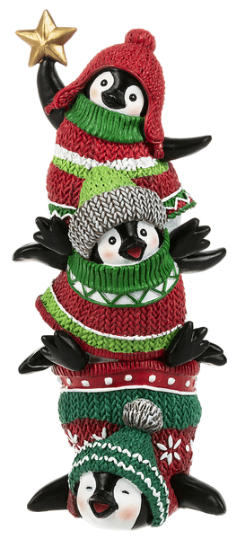 Dressed to Chill Pengiuns - Stacked Figurine