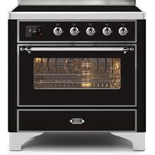 36 Inch Glossy Black Electric Freestanding Range