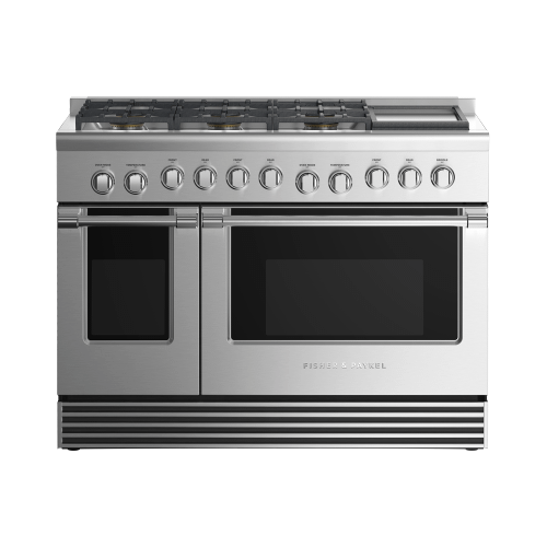 """Fisher & Paykel - Gas Range 48"""", 6 Burners with Griddle"""