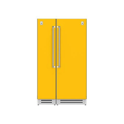 "Hestan - 48"" Column Freezer (L) and Refrigerator ® Ensemble Refrigeration Suite - Sol"