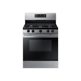 5.8 cu. ft. Freestanding Gas Range in Black Stainless Steel