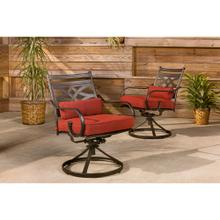 See Details - Hanover Montclair Set of 2 Swivel Rockers in Chili Red, 11200-2SW-CHLSL