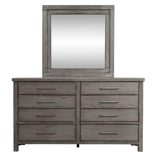 King Platform Bed, Dresser & Mirror