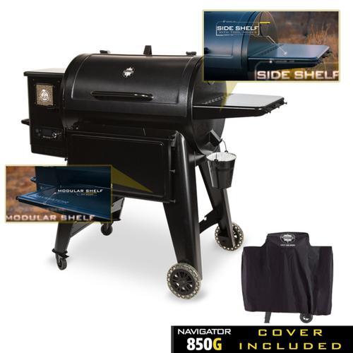 Navigator 850 Wood Pellet Grill w/ FREE cover and 40lb. bag of pellets