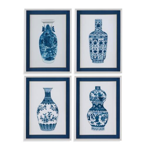 Bassett Mirror Company - 4 Pc Ming Vase
