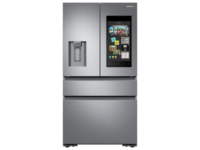 Samsung22 Cu. Ft. Family Hub™ Counter Depth 4-Door French Door Refrigerator In Stainless Steel