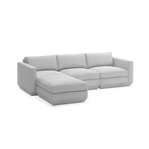 Podium 4PC Sectional New Bayview Silver / Left Facing