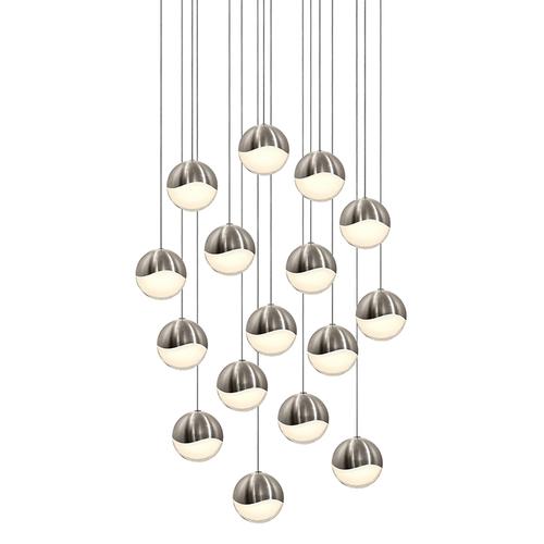 Grapes® 16-Light Square Large LED Pendant