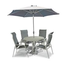 Captiva 5 Piece Outdoor Dining Set With Umbrella