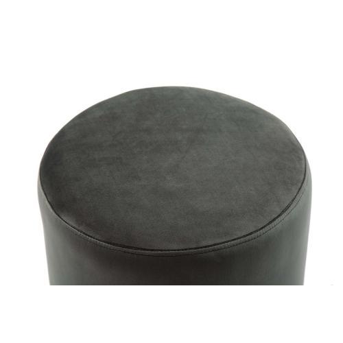 Tov Furniture - Pri Grey Velvet Ottoman