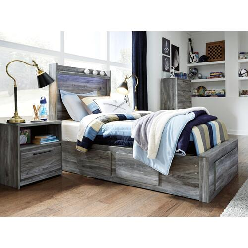 Baystorm Twin Panel Bed With 5 Storage Drawers