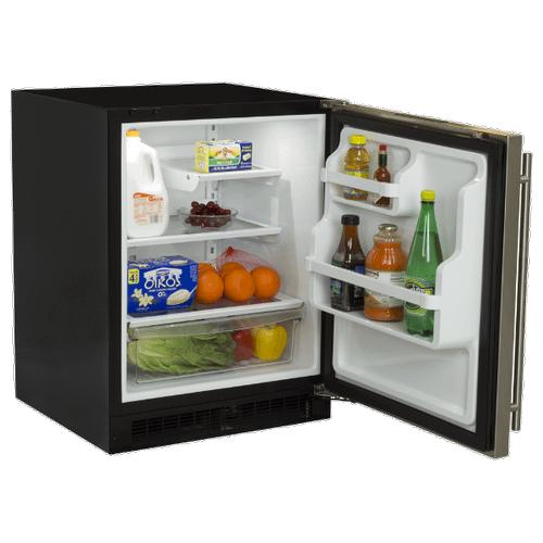 Marvel - 24-In Low Profile Built-In Refrigerator With Maxstore Bin And Door Storage with Door Style - Stainless Steel, Door Swing - Right