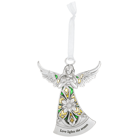 Angel Ornament - Love lights the season