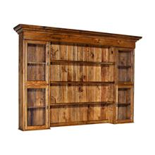 See Details - Four Door Hutch with Seeded Glass Doors