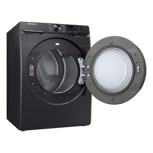 Samsung - 7.5 cu. ft. Smart Electric Dryer with Steam Sanitize+ in Brushed Black