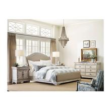 See Details - Kelly Uph Sleigh King Bed - Complete