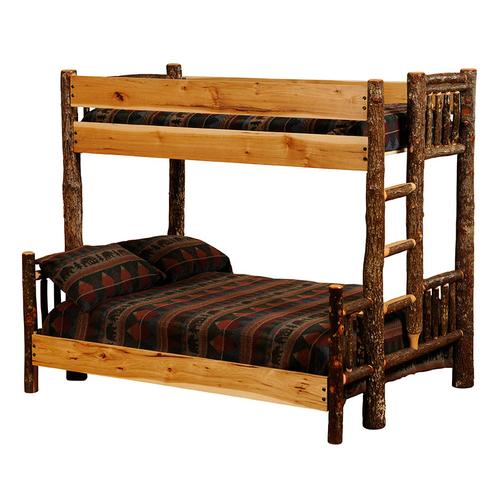 Bunk Bed - Double/Double - Barnwood - Ladder Right