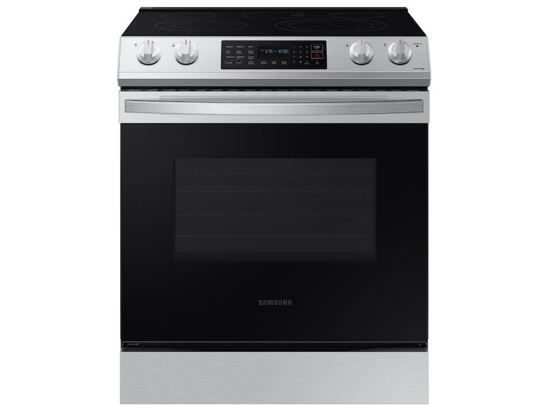 Samsung6.3 Cu. Ft. Front Control Slide-In Electric Range With Convection & Wi-Fi In Stainless Steel