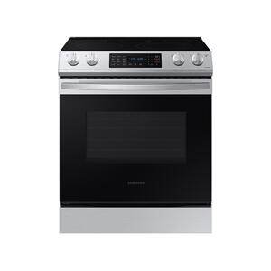 Samsung Appliances6.3 cu. ft. Front Control Slide-In Electric Range with Convection & Wi-Fi in Stainless Steel